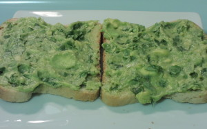 Avocado spread on bread