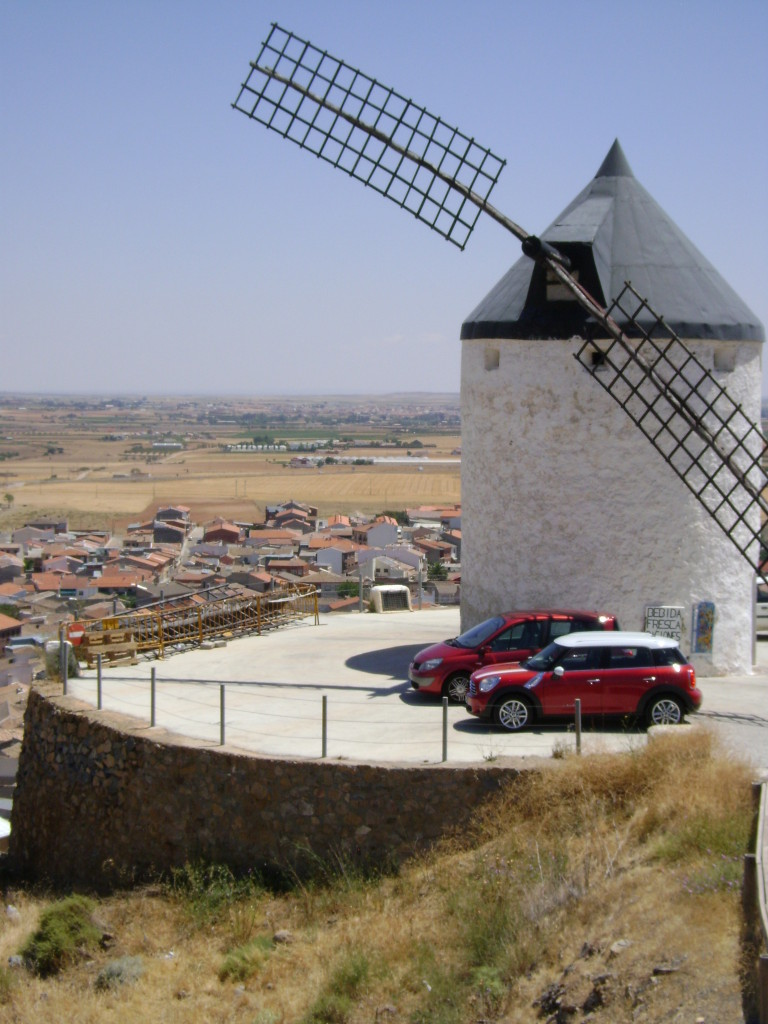 Note the size of the cars in relation to the windmill