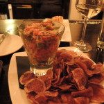 Tuna ceviche with Peruvian potato chips