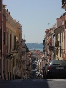 A typical Lisbon street